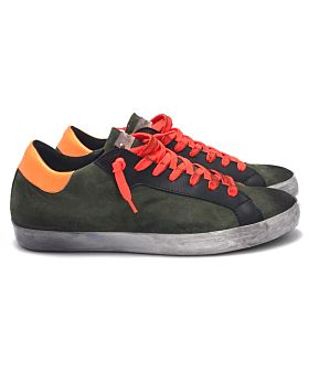 Military suede / orange fluo