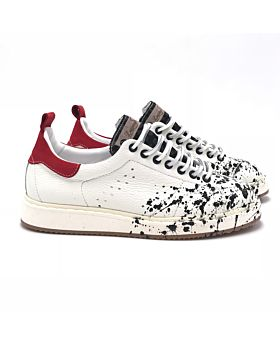 Street - WHITE Dalmata black - Red schizzi